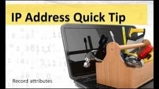 IP Address Lookups: The Clues are Inside the Attributes
