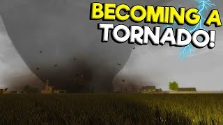 I Became an EF5 Tornado and Destroyed My Friends Truck in Storm Chasers Multiplayer!
