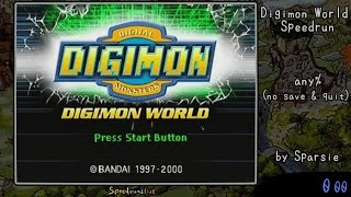 Digimon World - 1:30:57 Single Segment World Record Speedrun [Audio Commentary]