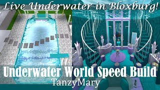 Bloxburg Underwater Room & Pool Speed Build Tutorial Stair Update (Mermaid Cove)