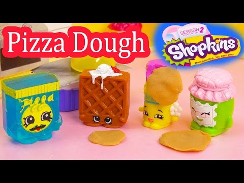 Shopkins Frozen Pa Pizza Dough Class Season 1 and 2 Playing Video Playdoh Fun Cookieswirlc