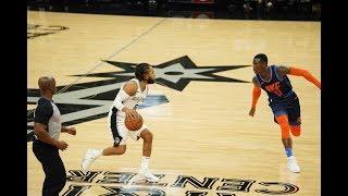 San Antonio Spurs Hit 14 Straight 3-Pointers Against Oklahoma City Thunder | Jan. 10, 2019