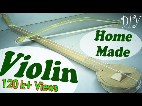 DIY Violin HomeMade | How to Make a easily Violin | Creative Discovery Project