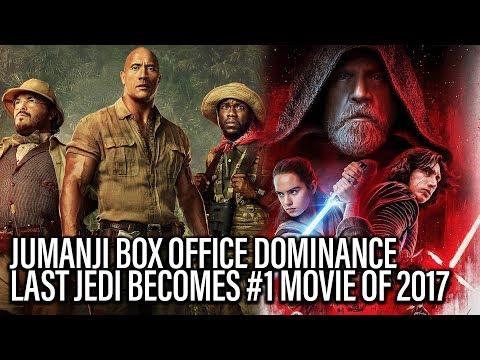 Box Office Report - Jumanji Dominates, Last Jedi Hits #1 2017 Box Office Film