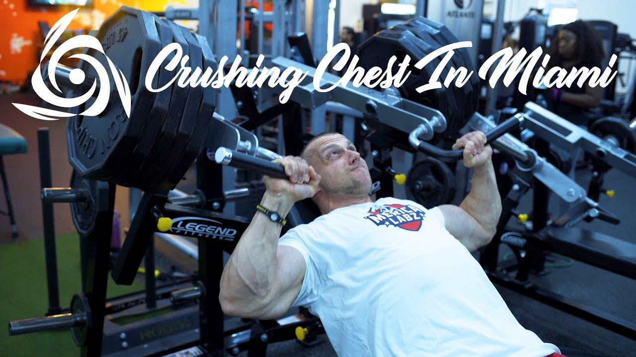 Doug Miller Crushes Chest at Elev8tion Fitness Gym In Miami!