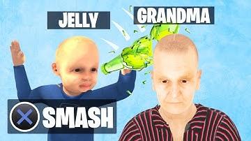 SMASH The BOTTLE On GRANDMA'S HEAD! (Grandma Simulator)