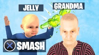 SMASH The BOTTLE On GRANDMA'S HEAD! (Grandma Simulator)
