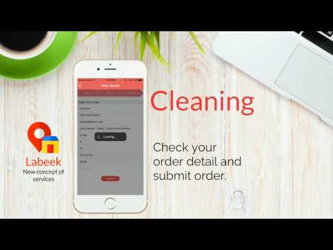 How to book Cleaning service using labeek app