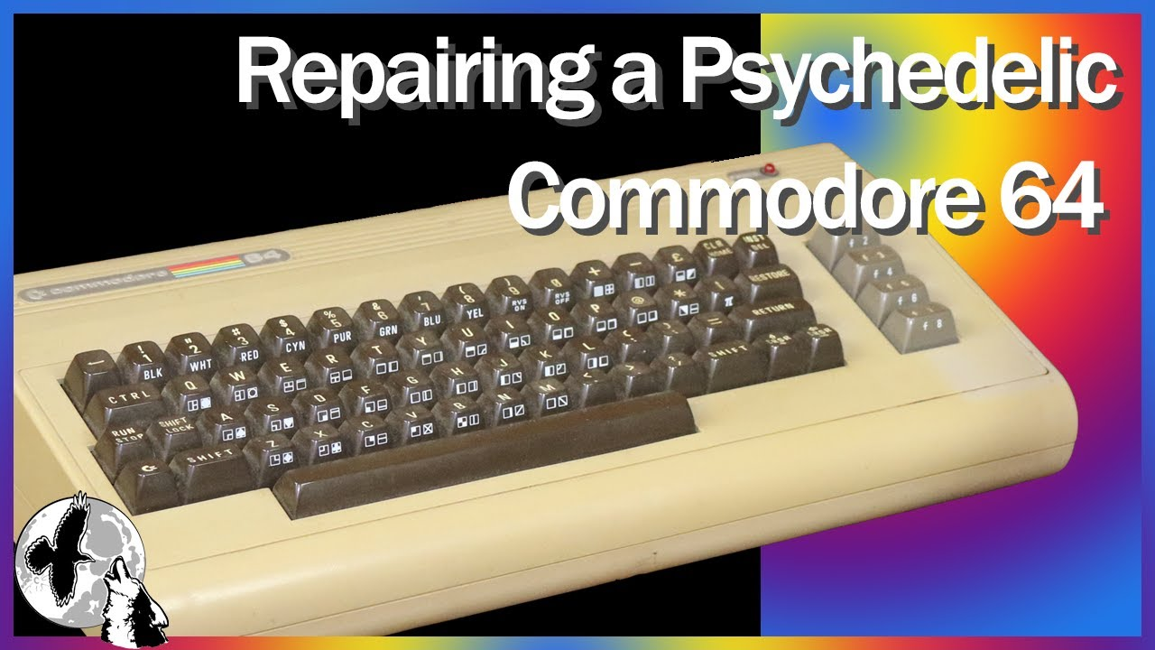 Commodore 64 Repair - Psychedelic Colors