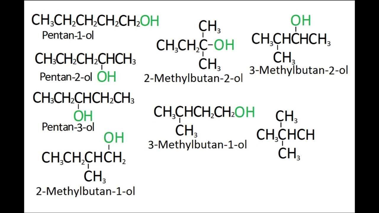 c5h12o functional isomers youtube