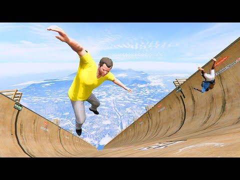 GTA 5 Crazy Jumper/Falls compilation #5 (GTA 5 Fails Funny Moments/Ragdolls)