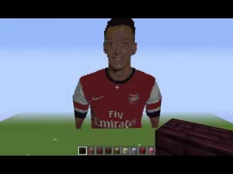 Mesut Ozil Minecraft Pixel Art Youtube