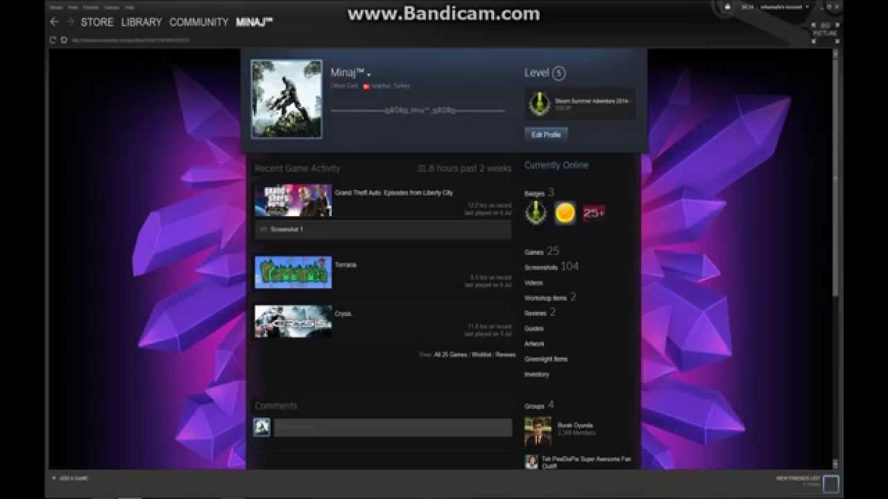 Steam Backround Arkaplan Değiştirme Youtube
