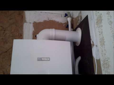 Монтаж и подключение газового котла / Installation and connection of the gas boiler