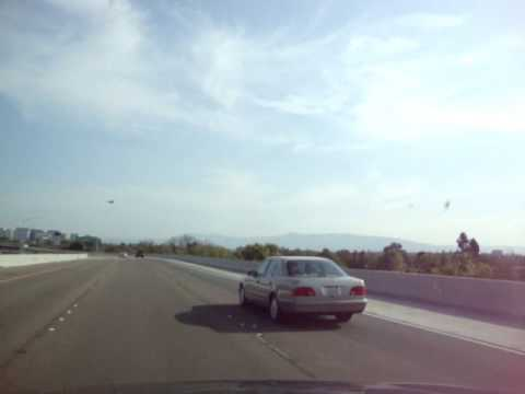 Driving in San Jose, California (Guadalupe Expressway)