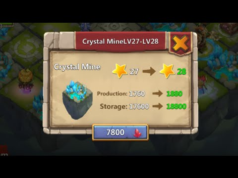 Castle Clash Lost Realm LEVEL 28 All Mines Leveled To 28 1600000 Exp INSANE!