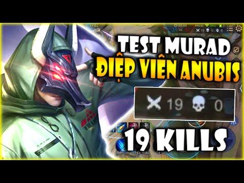 Liên Quân | Thịt Nóng 19 Kills Cùng Murad Điệp Viên Anubis Siêu Chất - Test Trang Phục Mới