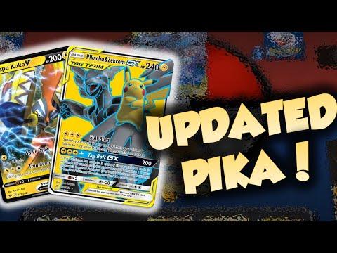 Pikarom Got WAY BETTER! | Updated Pikachu & Zekrom Tag Team GX Deck!