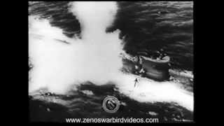US Navy carrier planes blast German U-Boats in the Atlantic 1943