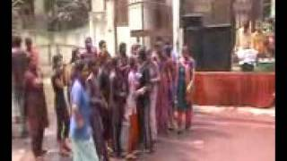 Holi Dance by women , young girls and boys, socialites in Greater Noida Part II