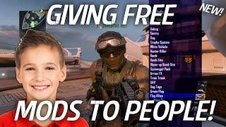 MODDER GIVES FREE BO2 MOD MENU TO PEOPLE ONLINE! (Black Ops 2 Mods!)