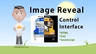 Dual Image Reveal Control Tutorial JavaScript CSS HTML