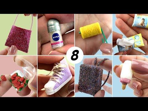 8 DIY Miniatura fáceis de fazer para Barbie - Coisas para boneca I Dicas e Truques