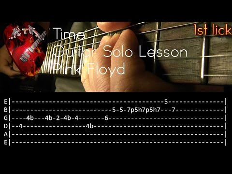 Time Guitar Solo Lesson - Pink Floyd (with tabs)