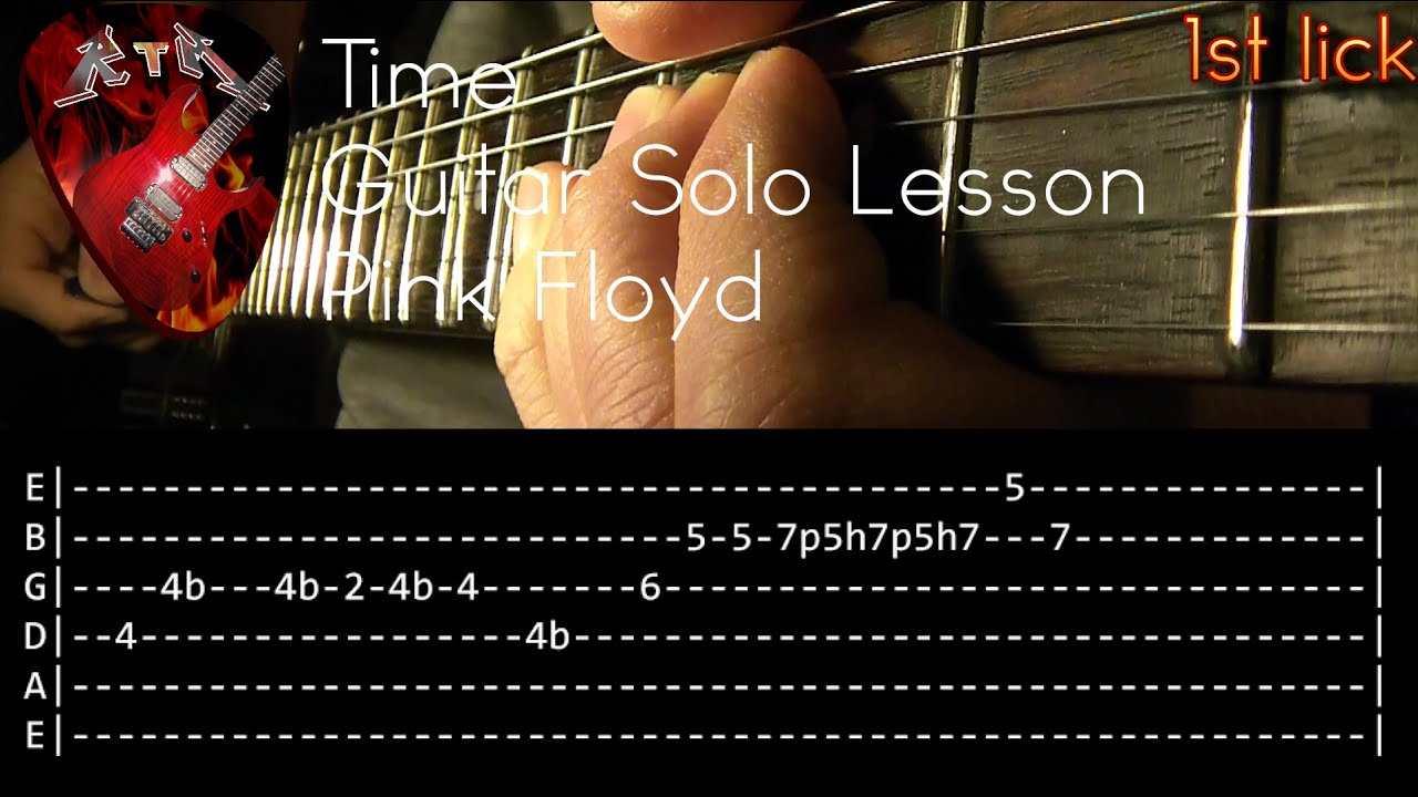 time guitar solo lesson pink floyd with tabs youtube. Black Bedroom Furniture Sets. Home Design Ideas