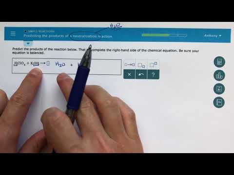 ALEKS - Predicting The Products Of A Neutralization Reaction