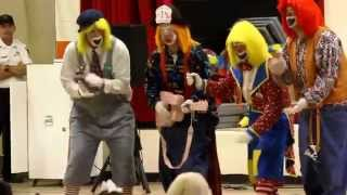 Cedartown Fire Department Clowns Sing a Song at Westside