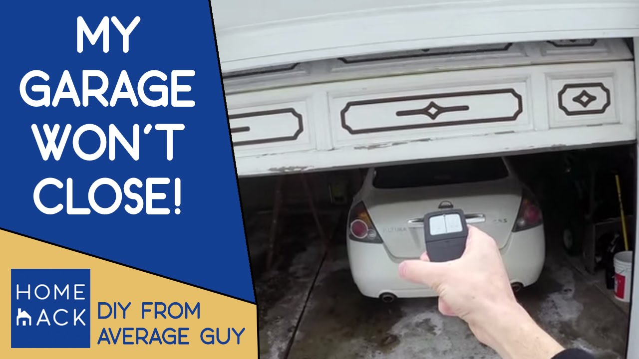 Garage door not closing easy quick fix youtube for Door not closing
