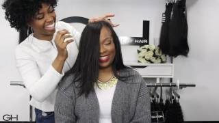 #issaSlay | Quick Weave Bob + Glamour House Of Hair Raw Filipino Straight Hair Extensions