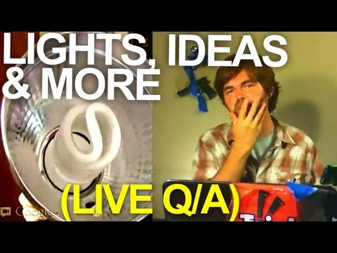 Cheap Video Lighting and More! - Q/A - QUICK FX (live stream)