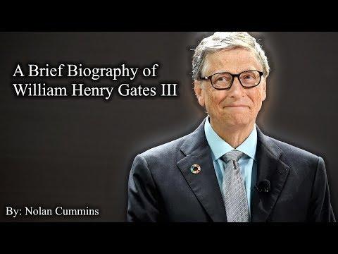 A Brief Biography of William Henry Gates III (Bill Gates)
