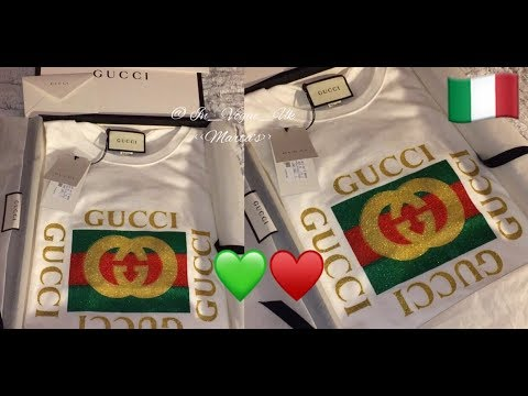 One more t shirt to my GUCCI collection UNBOXING 2018