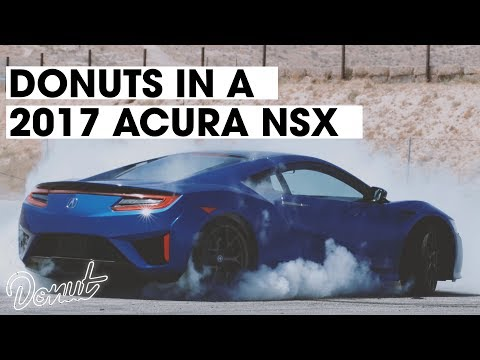 Donuts in a brand new 2017 Acura NSX | Donut Media