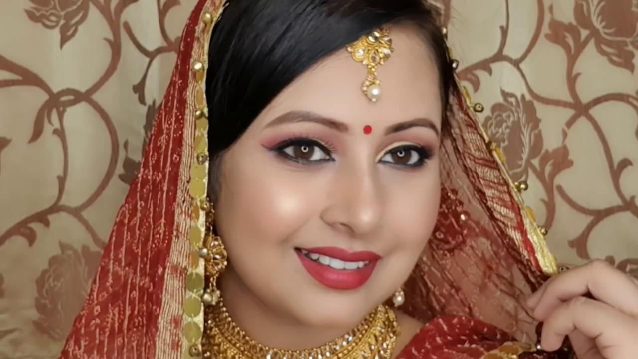Download Indian bridal makeup tutorial steps in Hindi  sweat-proof long lasting makeup   Kaur tips