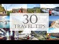 30 Trip planning tips for how to Travel with less money | Travel hacks to save time, money & space!