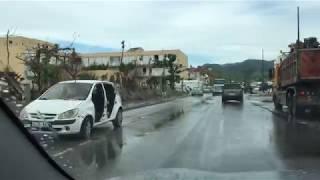 Hurricane Irma Damage driving from Sandy Ground to Marigot on 11/8/2017 - (Part 2)