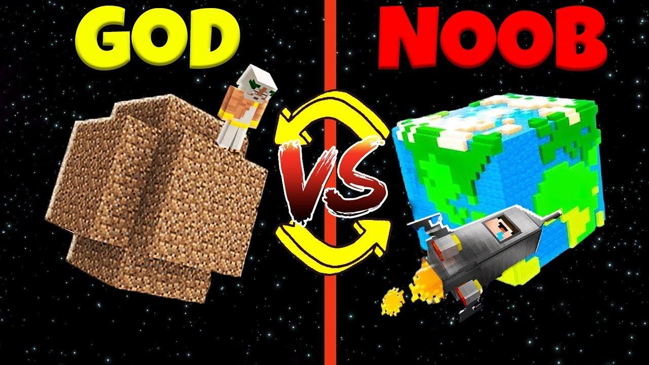 Minecraft Battle: NOOB vs GOD: SWAPPED PLANET CHALLENGE / Animation