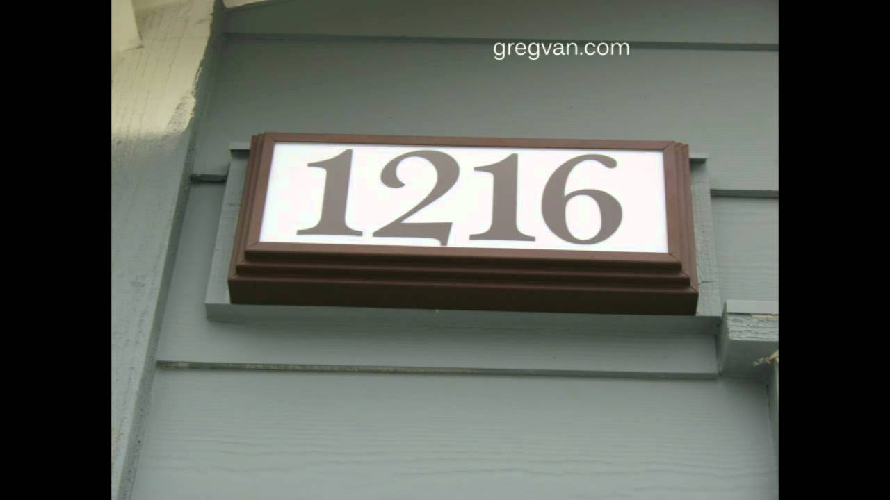 Lighted address signs for a house home building and property inspection youtube