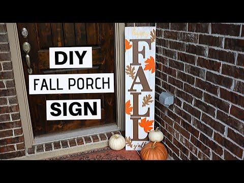 DIY Fall Decor 2019   Farmhouse Fall Porch Sign