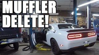 hellcat gets loud hellcat muffler delete install and tutorial