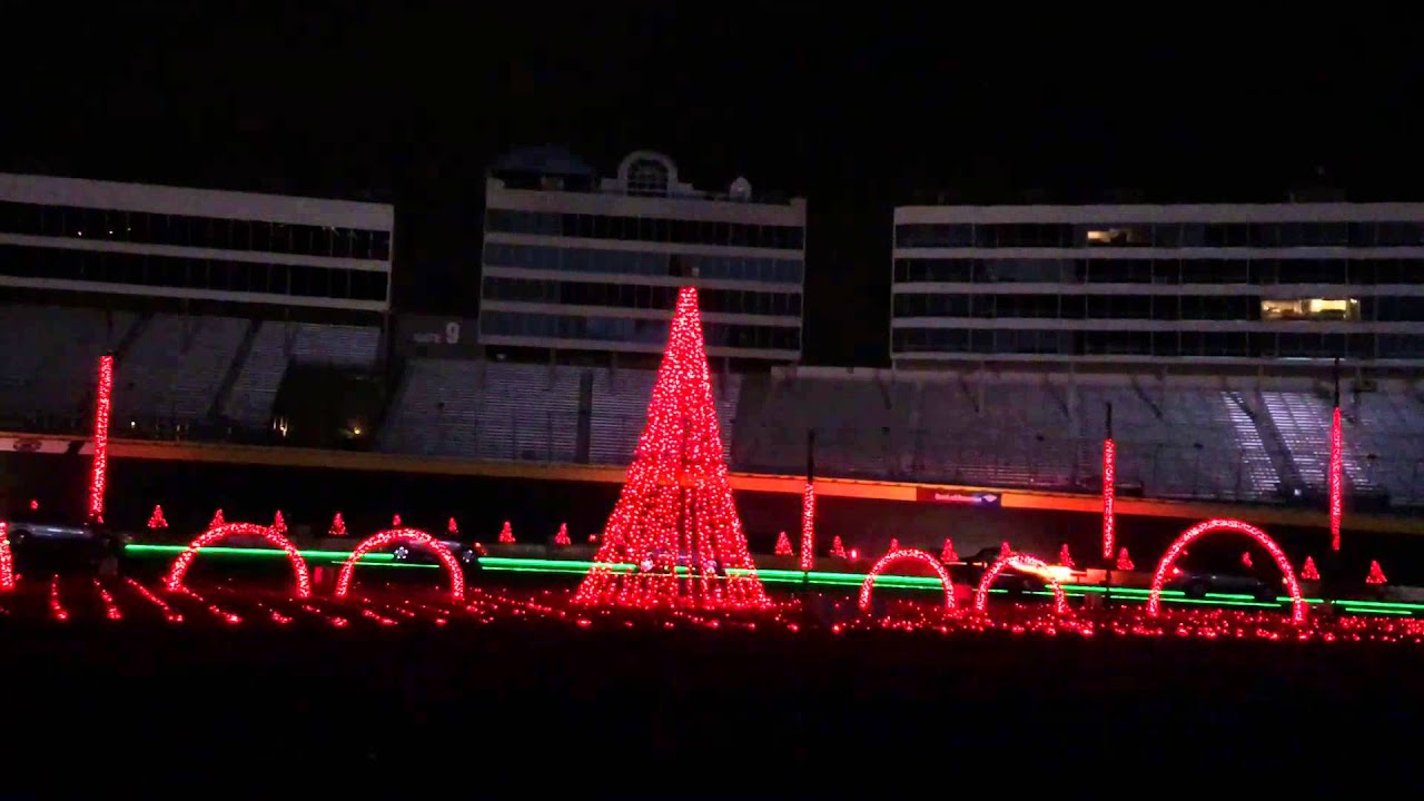 Charlotte Motor Speedway Lights 2015 - YouTube