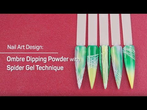 How to Use Spider Gel to Design on Ombre Dip Powder Nails - LDS Nails
