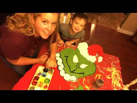 Painting A Grinch Stealing Christmas Lights Yard Stake Youtube