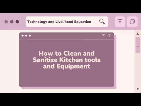 How to Clean and Sanitize Kitchen tools and Equipment ...