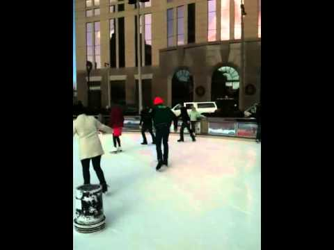 Ice skating with buckets part 1