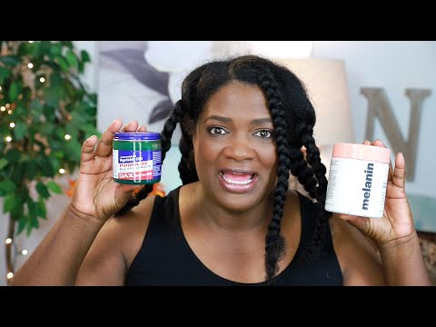 Dax Hair Grease and Naptural85's Elongating Cream on Blow Dried Hair plus Chunky Twists